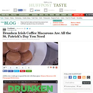 Huffington Post Irish Macarons