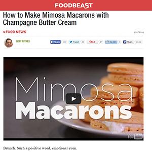 Mimosa Macarons