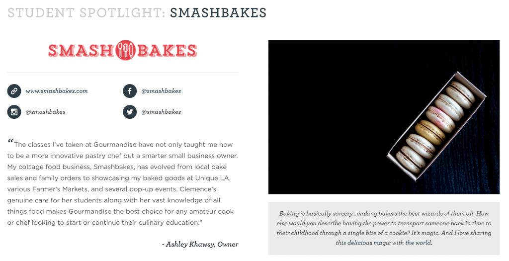 Smashbakes Student Spotlight